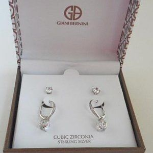 Take 50% off!   CZ in Sterling Silver Set (E48)